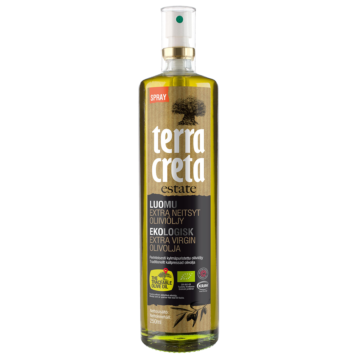 Image of   Terra Creta Olivenolie Økologisk Spray 250 ml